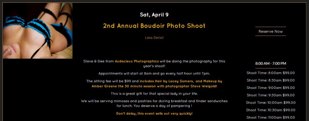 2nd Annual Boudoir Shoot